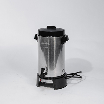 55 cup - 100 cup coffee maker or hot chocolate maker or tea maker percolates in 45 minutes