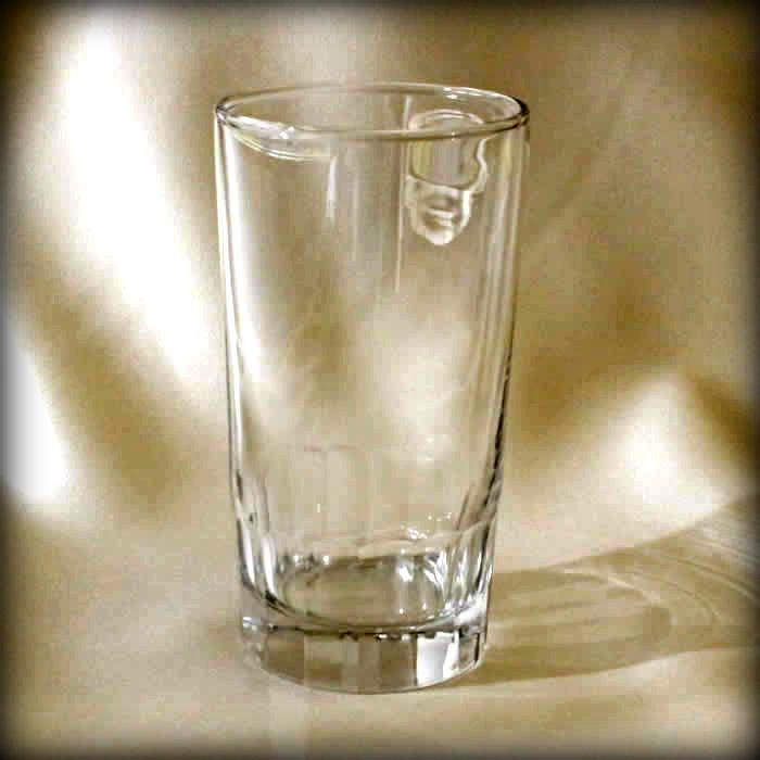 Ribbed H Base High Ball or Zombie Glass