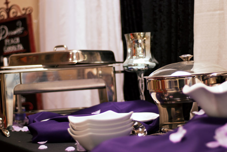 Party rentals chafing and serving dishes