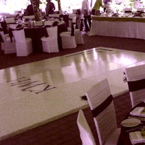 Personalize Your Dance floor with your Monogram or Company Logo