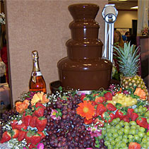 Extra Large Chocolate Fountain with Fruit display