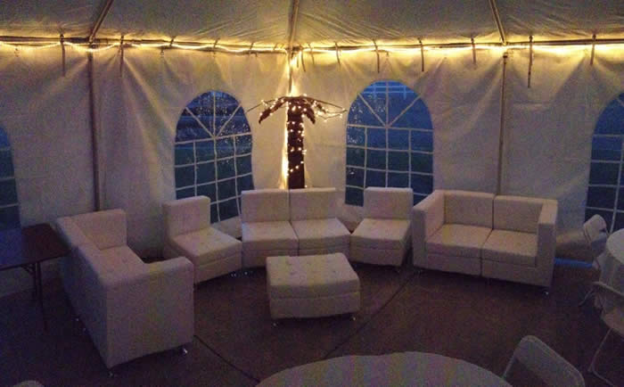 String lighting is also an option to rent for any event