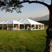Tent with clear wall arounlls are perfect with gorgeousness all around you