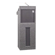 Portable Podium with Microphone and Speaker