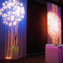 Rent Bogo Lights for the Wall wash in colors and shapes and event names and logos