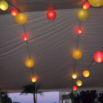 These colored Paper Lanterns glow in many many many colors
