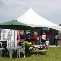 Tents and Umbrellas go very well together with All Occasion Rentals