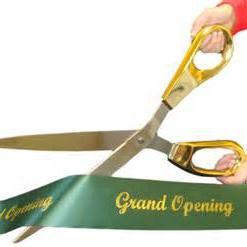 Giant Ribbon Cutting Scissors