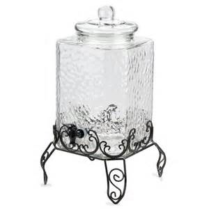 Glass Pebbeled beverage container with or without stand
