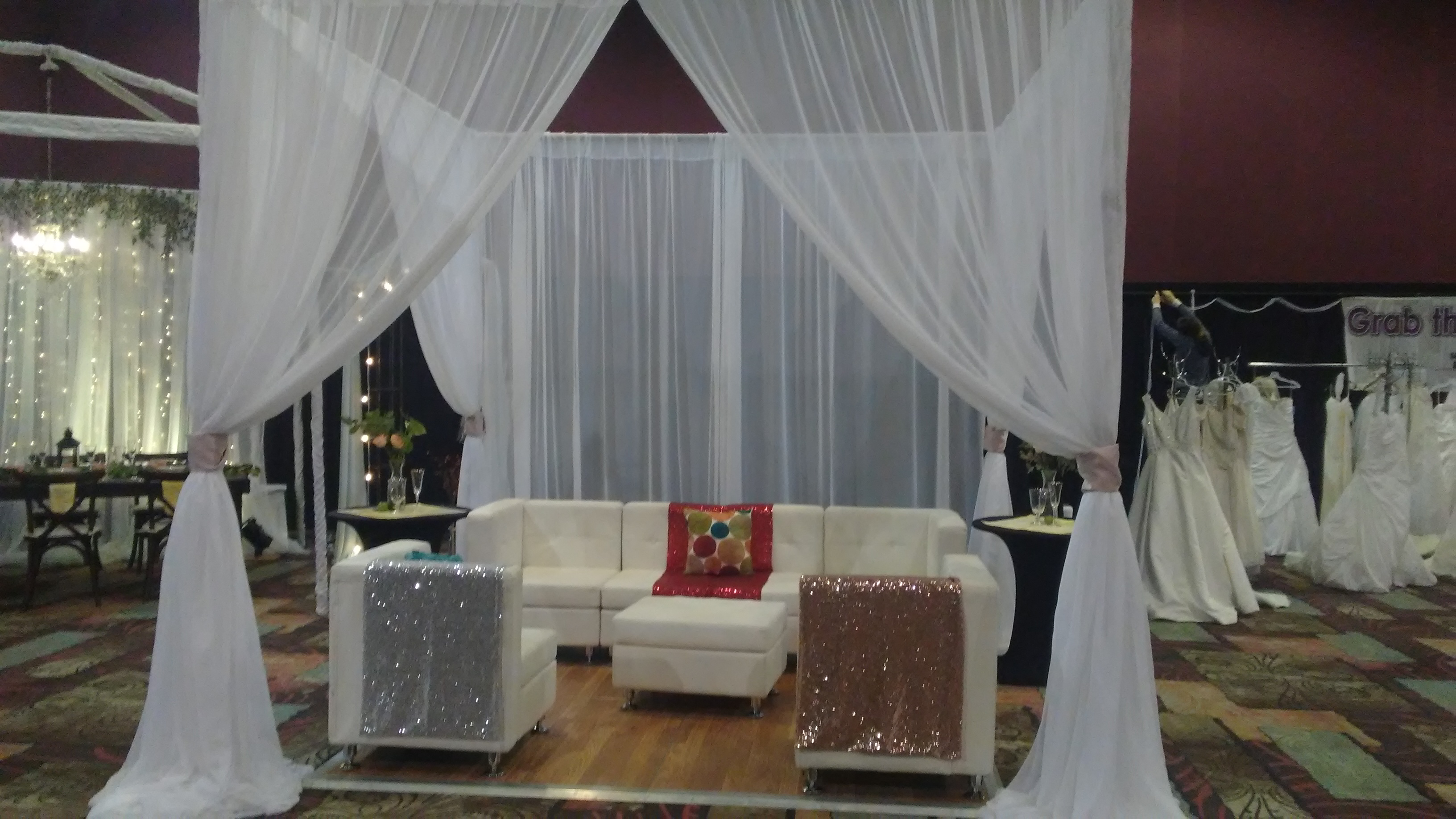 White mandap for ethnic traditions 12' tall