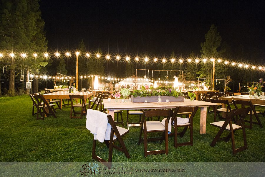 Bare Bulb and cafe lighting sets the border of your party and also sets the tone of an event most ti