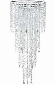 4 tier simple chandelier one light with dripping light faceted crystals