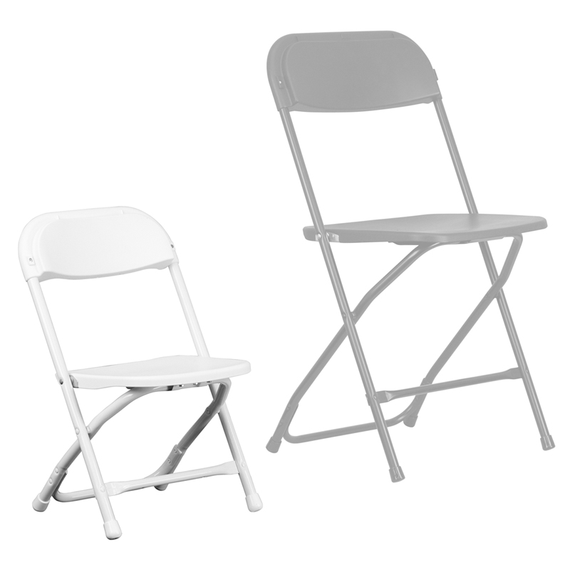 Children's White Folding Chair
