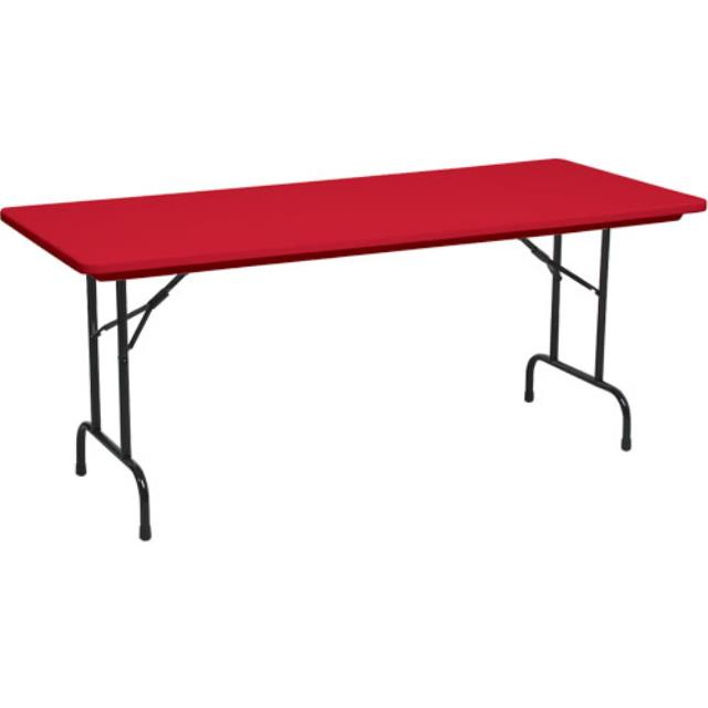 Childrens tables with red tops