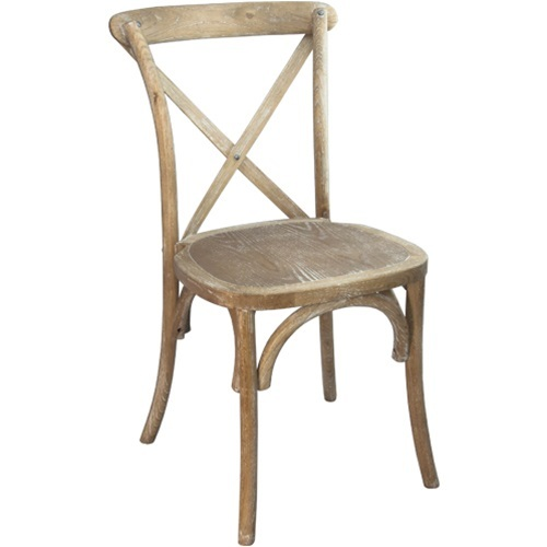 Cross Back Chair or Called Natural X Back Chair with Pad