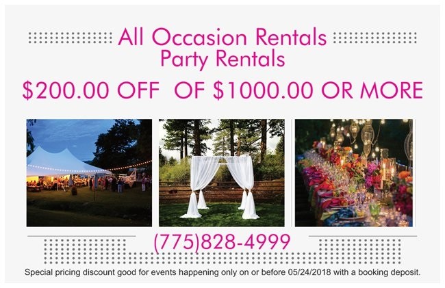 Party rentals for any size event all occasion rentals 200 off 1000 thru 052518g publicscrutiny Images