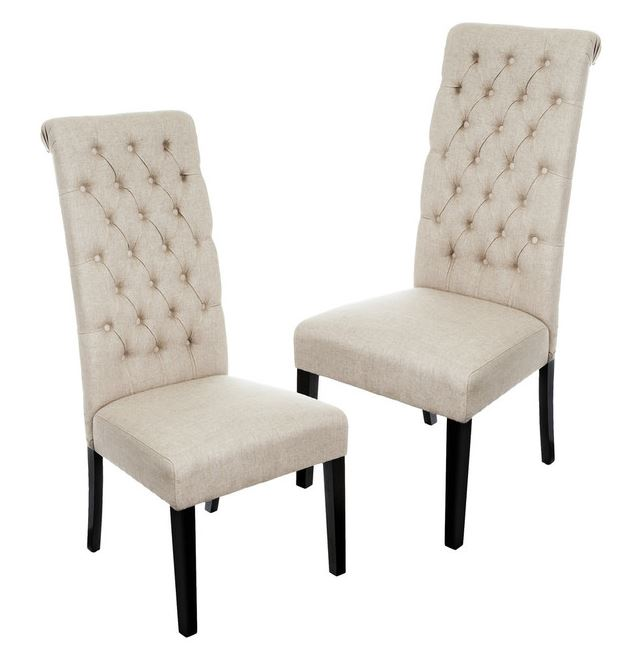 King & Queen Tufted Dining Chairs