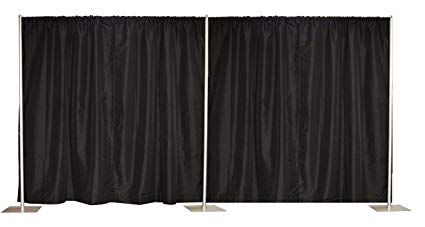 Pipe and Drape Sections in Black