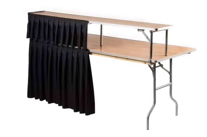 6' Bar with Riser & Black Skirting