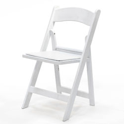 White Resin Padded Chair reno