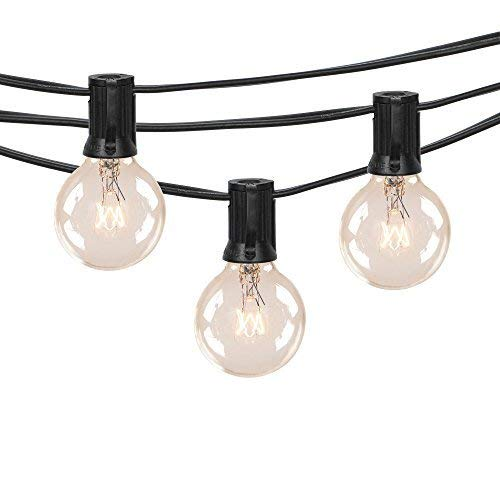 Black Strand globe bulb string lights