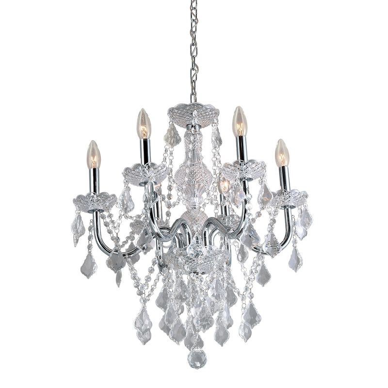 Crystal Chandelier 6 Bulb