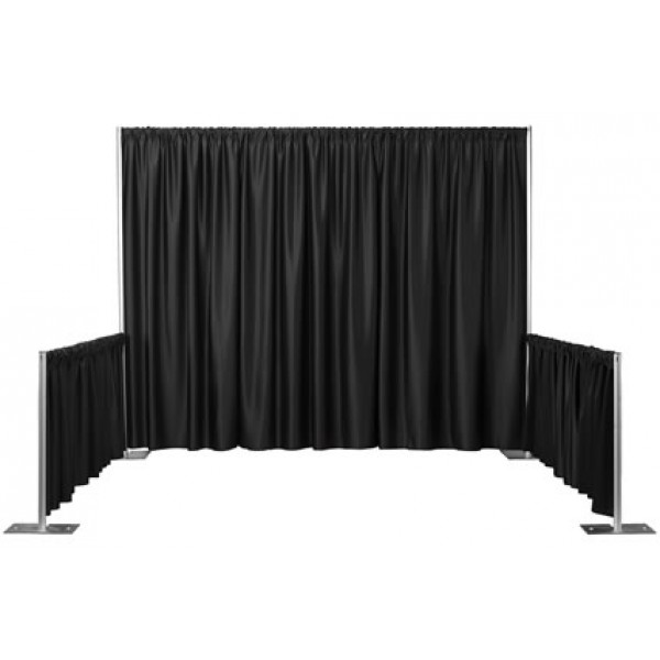Black Draped Booth