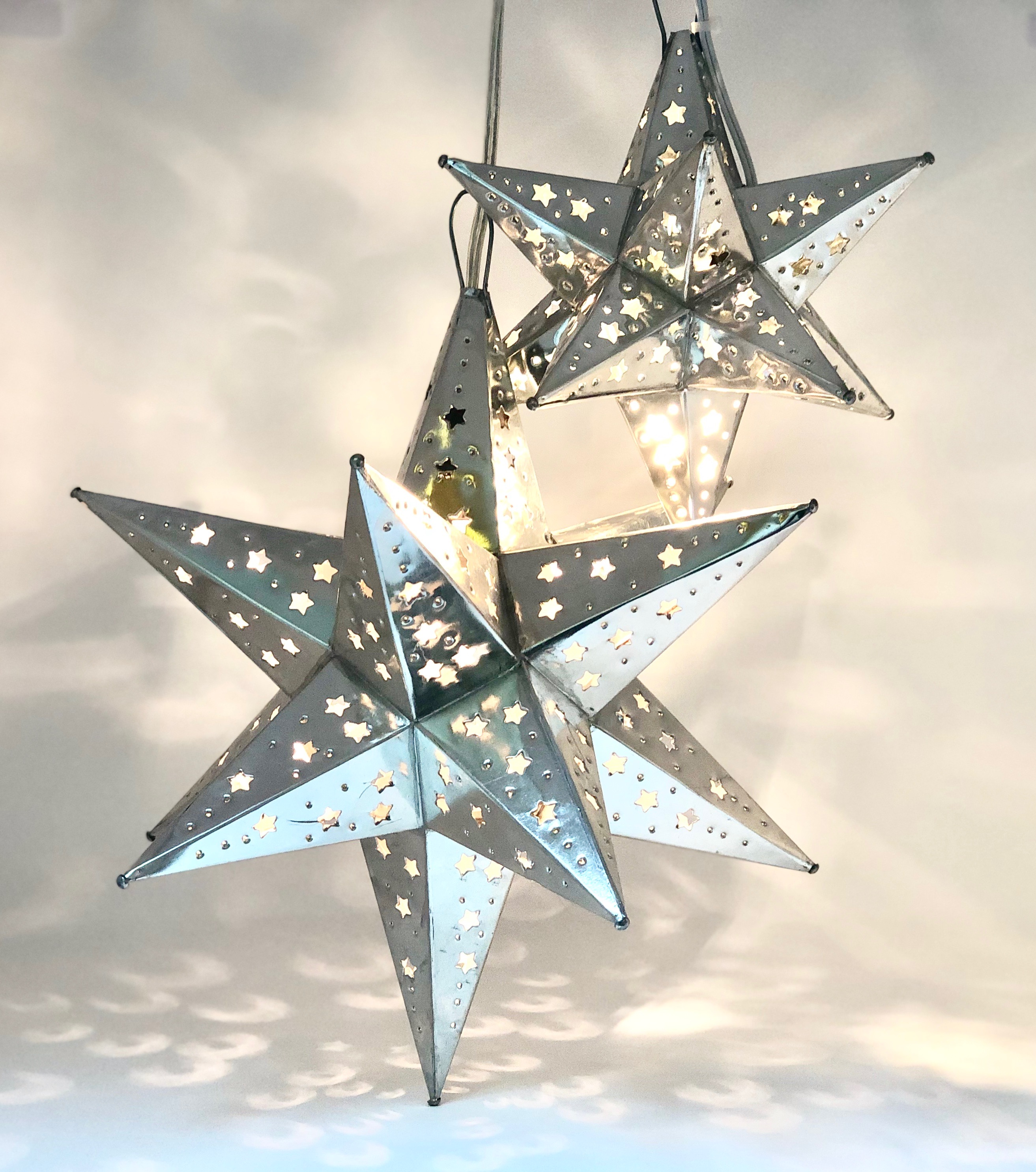 Moroccan Lighted 12 Point Stars Large and Small