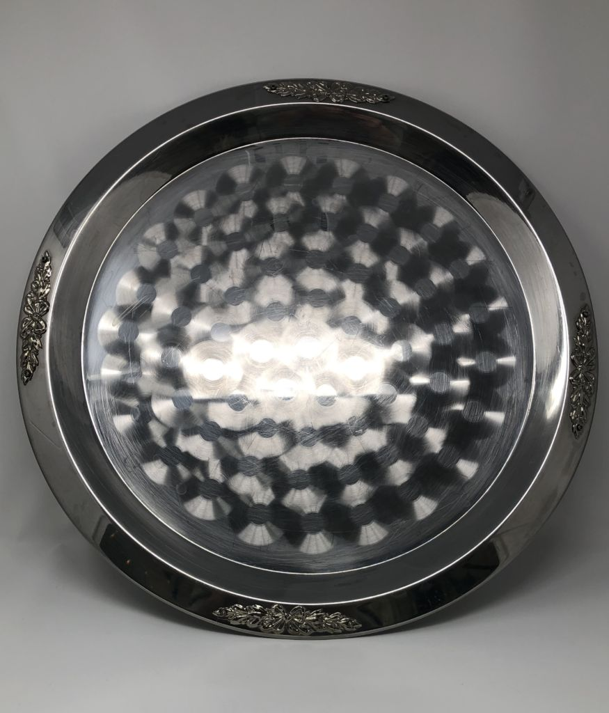 Decorative XL Serving Tray Silver